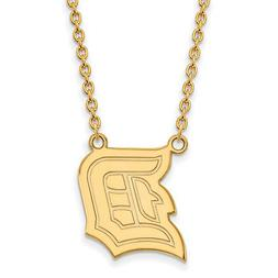 LogoArt 14k Yellow Gold Duquesne University Large Pendant w/