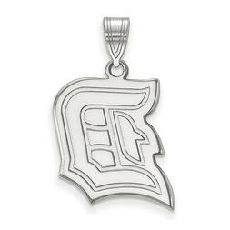 925 Sterling Silver Rhodium-plated Laser-cut Duquesne Univer