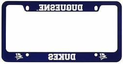 Duquesne University -Metal License Plate Frame-Blue