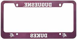 Duquesne University -Metal License Plate Frame-Pink