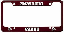 Duquesne University -Metal License Plate Frame-Red