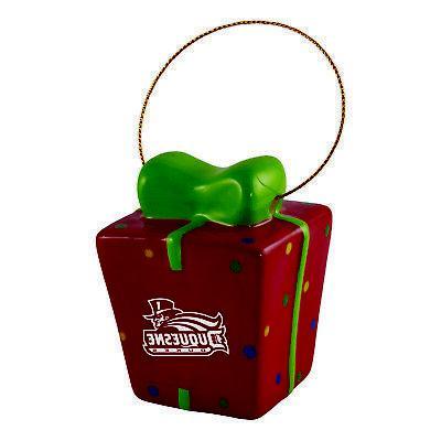 duquesne university 3d ceramic gift box ornament