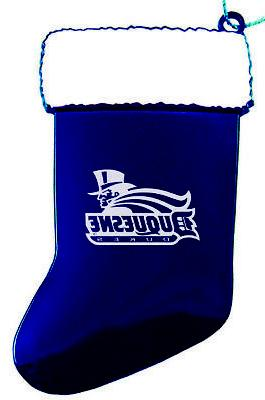 duquesne university chirstmas holiday stocking ornament blue