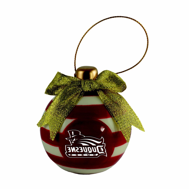duquesne university christmas bulb ornament