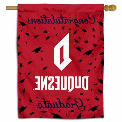 duquesne university college graduation gift decorative flag