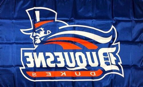 duquesne university dukes flag 3x5 ft ncaa