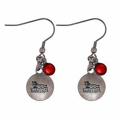 duquesne university frankie tyler charmed earrings red