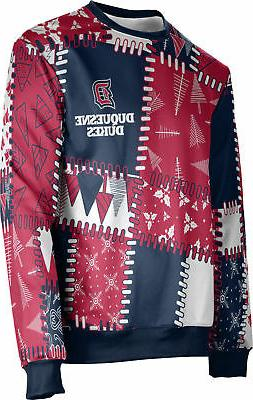 ProSphere Men's Duquesne University Ugly Holiday Quilt Sweat
