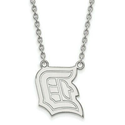sterling silver 18in duquesne university large pendant