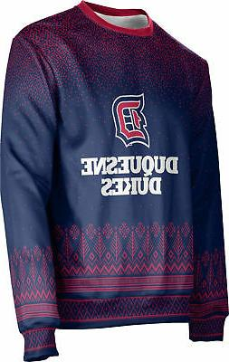 ProSphere Unisex Duquesne University Ugly Holiday Blizzard S
