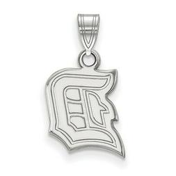 Sterling Silver Rhodium-plated Laser-cut Duquesne University
